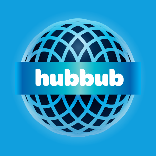 Logo and branding for Hubbub – the first real sound social network