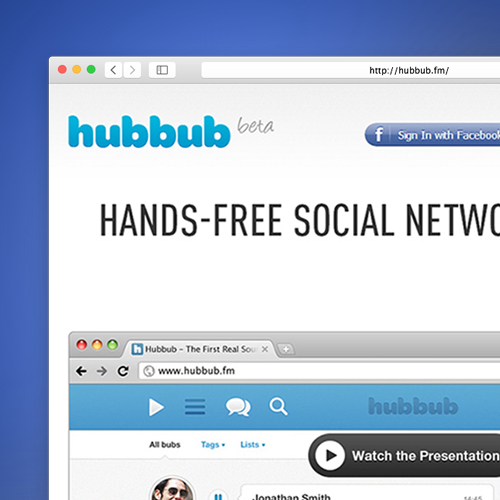 Prototypes and website for Hubbub