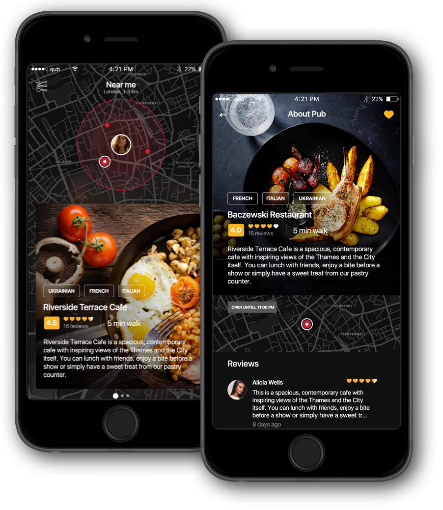 food mobile app design