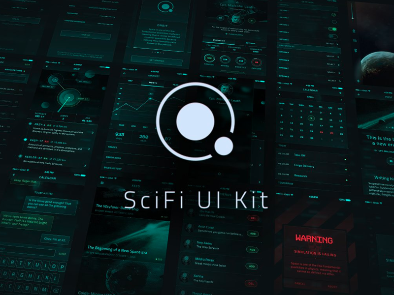 scifi ui kit
