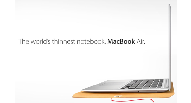 Apple says: the thinner - the better