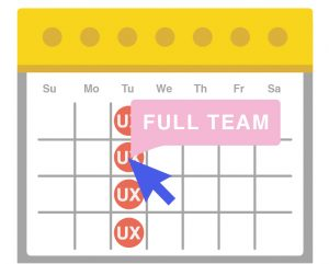 schedule your UX strategy activities